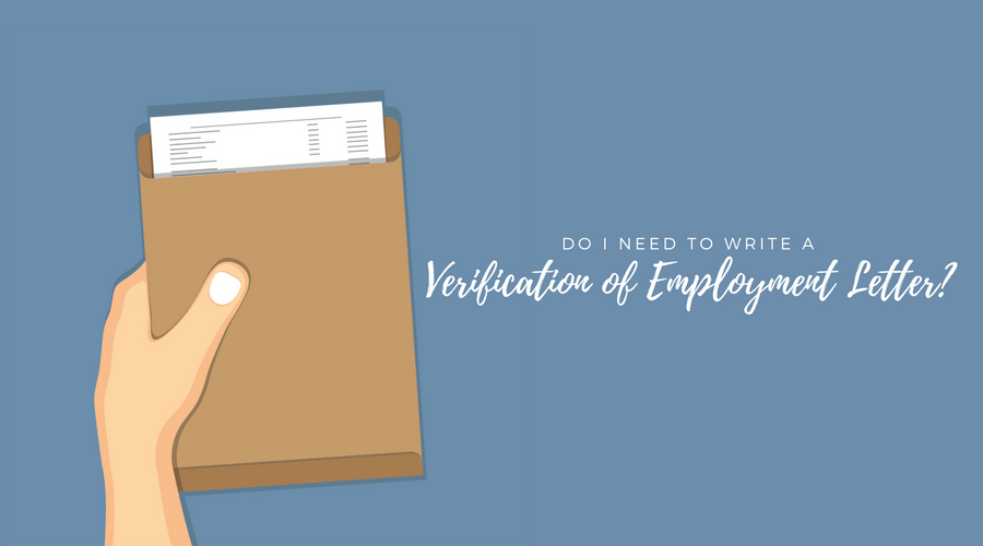 Verification of Employment Letter